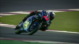 Francesco Bagnaia hat beim #QatarGP seinen ersten Moto2™ Sieg gefeiert. Er gewann vor Baldassarri und Marquez.