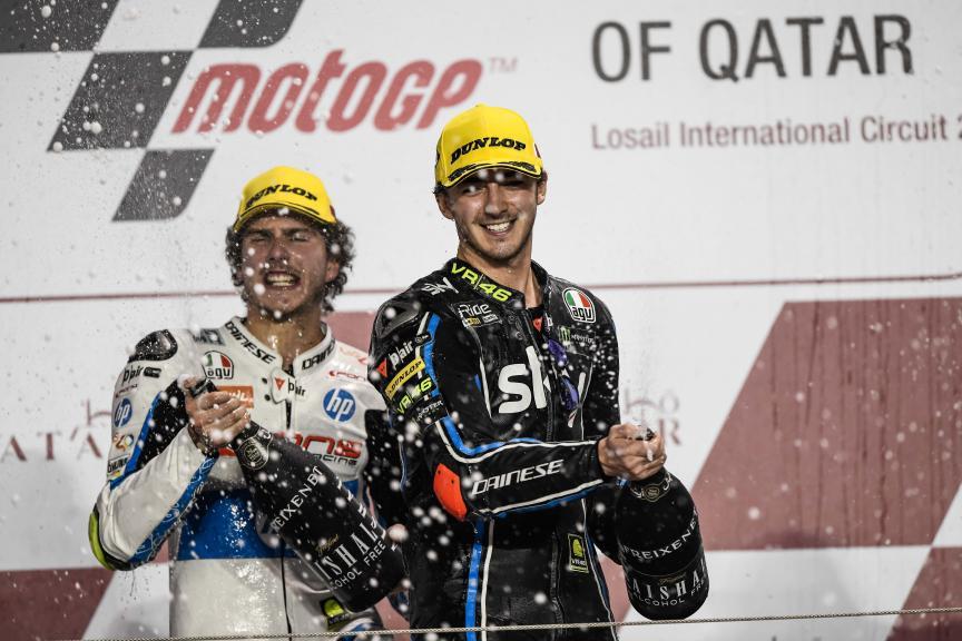 Francesco Bagnaia, Sky Racing Team VR46, Lorenzo Baldassari, Pons Hp40, Grand Prix of Qatar
