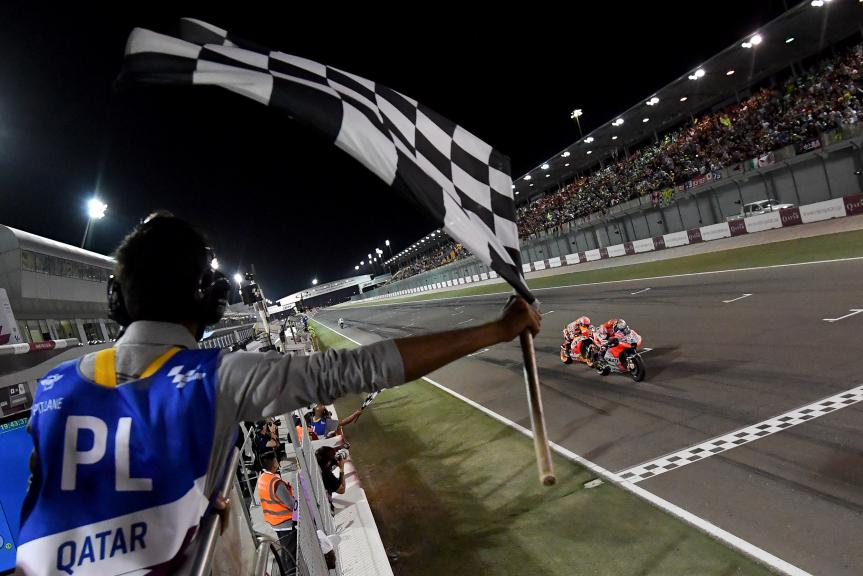 Andrea Dovizioso, Marc Marquez, Grand Prix of Qatar