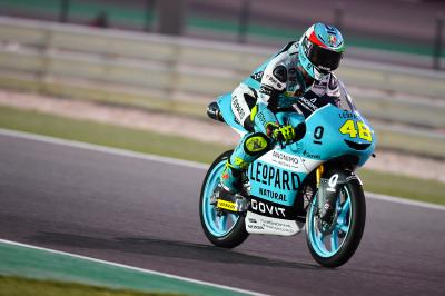 Dalla Porta se distingue au warm-up du #QatarGP