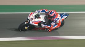 The Alma Pramac Racing rider fought for the podium in the opening race of the season, but eventually finished fifth
