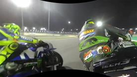 Join Johann Zarco in 360 OnBoard as we take a look at Marquez having a big moment on the brakes into Turn 1