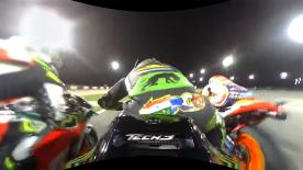 Watch the Frenchman's launch from pole position at the Losail International Circuit