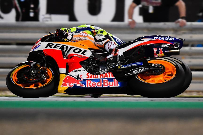 Marc Marquez, Repsol Honda Team, Valentino Rossi, Movistar Yamaha MotoGP, Grand Prix of Qatar