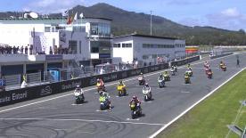 ポルトガルのエストリル・サーキットで開催されたMoto2™クラス決勝レース2のハイライトビデオ。