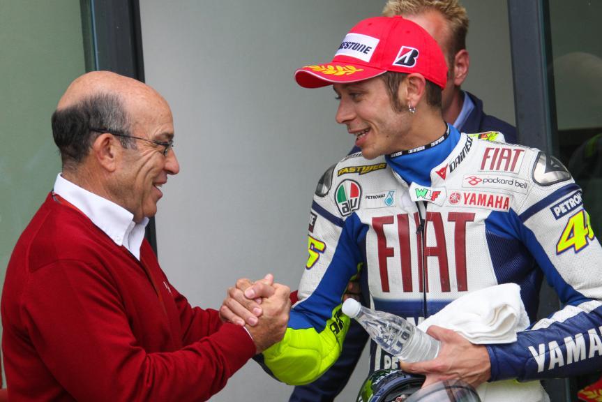 Carmelo Ezpeleta and Valentino Rossi