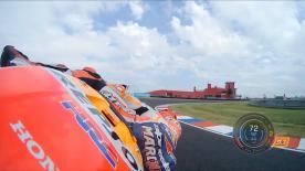 Marc Márquez s'est fait une petite chaleur durant la FP1 du GP d'Argentine, arrivé dans le virage 13.