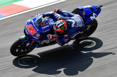 Rossi and Viñales positive after opening day