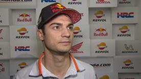 Dani Pedrosa, qui dit n'avoir pas été tout à fait à l'aise, repartait tout de même avec le troisième temps de la première journée en Argentine.