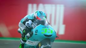 The opening day of action for the Moto3™ class saw Enea Bastianini top of the class from Lorenzo Dalla Porta and Tony Arbolino