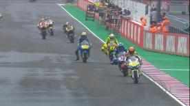 The intermediate class hits the track with the aim of being the quickest rider at the end of the session