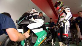 The Argentinian rider tested the MotoE bike for first time at Termas del Río Hondo Circuit