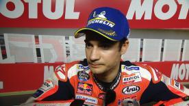 Dani Pedrosa, qui se classait deuxième des qualifications en Argentine, se disait admiratif devant la performance de Jack Miller sur pneus slicks.