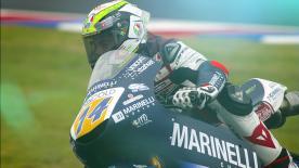 Arbolino führt vor Bezzecchi und Lokalheld Rodrigo, als Regen das Qualifiying der Moto3™ unterbricht