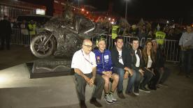 On Friday April 6, a statue of the 9 time world champion was unveiled at the Termas de Rio Hondo
