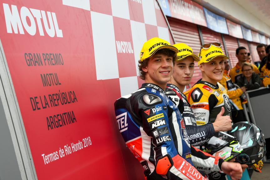 Tony Arbolino, Marco Bezzecchi, Gabriel Rodrigo, Gran Premio Motul de la República Argentina