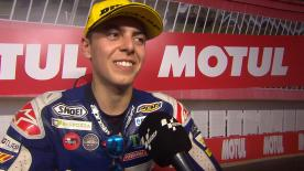 Fabio Di Giannantonio aura tout tenté dans le dernier tour, mais l'Italien terminait tout de même sur la troisième marche du podium à Termas