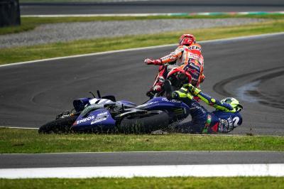 Neue Perspektiven vom Crash zwischen Rossi und Marquez!