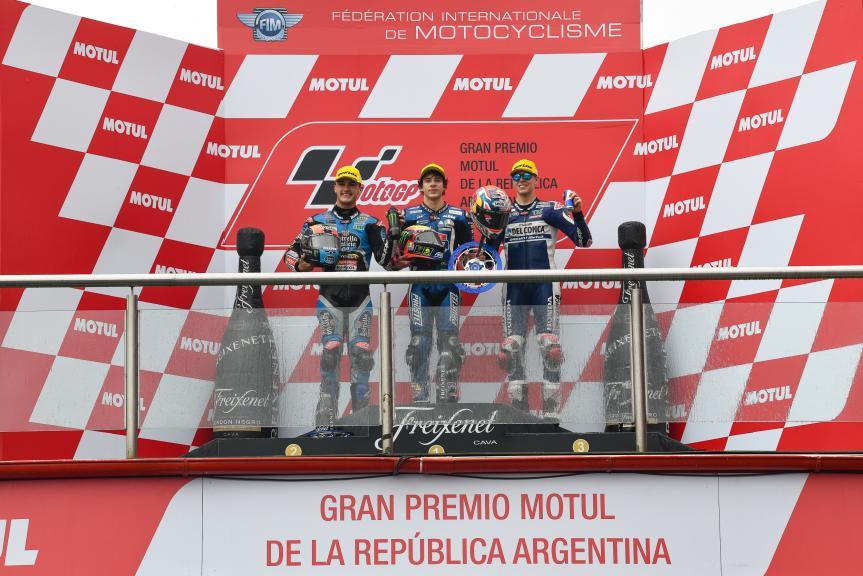 Marco Bezzecchi, Aron Canet, Fabio Di Giannantonio, Gran Premio Motul de la República Argentina