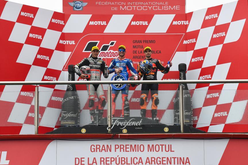Mattia Pasini, Xavi Vierge, Miguel Oliveira, Gran Premio Motul de la República Argentina