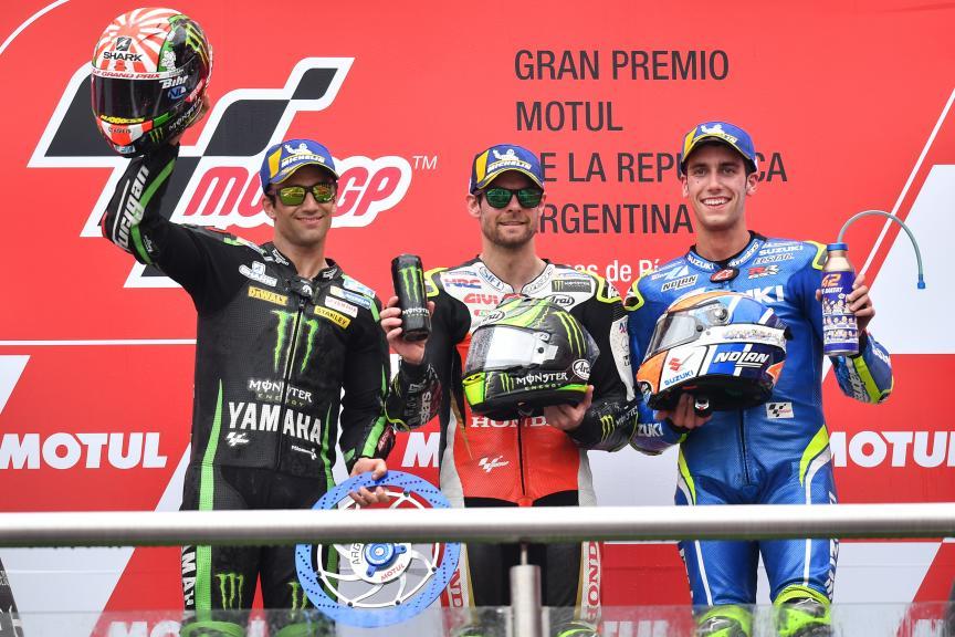 Cal Crutchlow, Johann Zarco, Alex Rins, Gran Premio Motul de la República Argentina