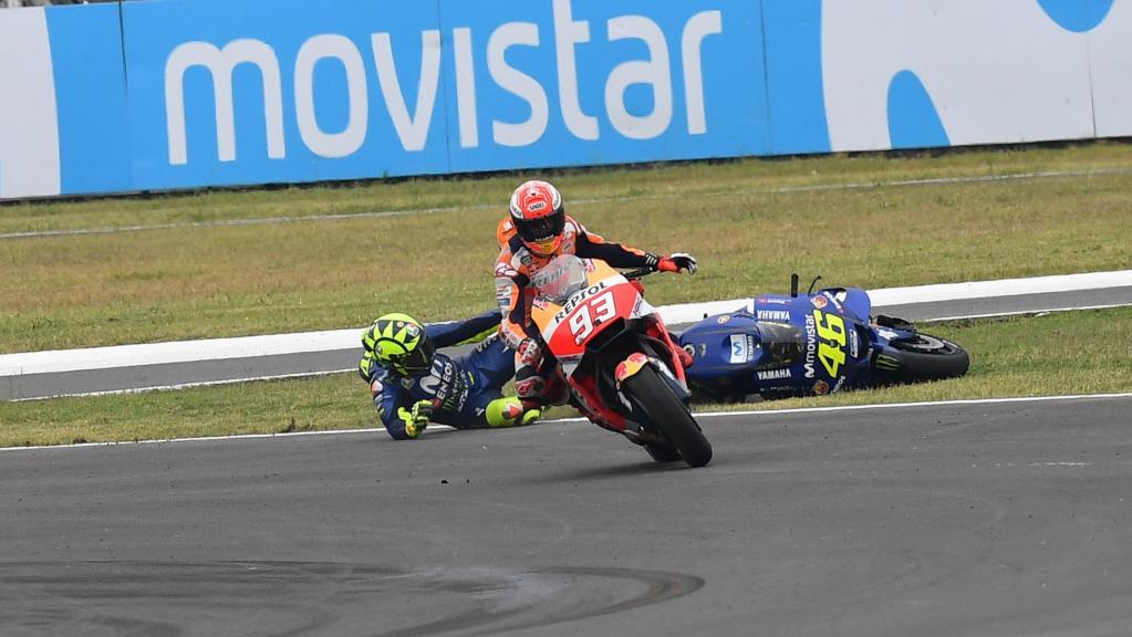 TC Termas Clash Rossi Marquez