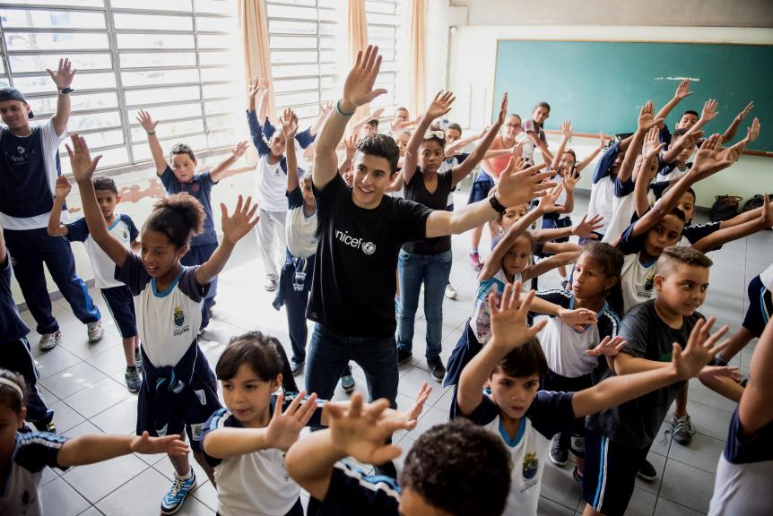 Marc Márquez - Escuela Brasil UNICEF