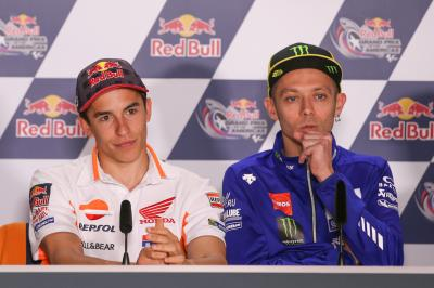 Rossi and Marquez: live debriefs from COTA