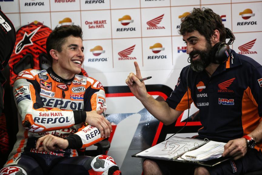 Marc Marquez, Santi Hernandez, Repsol Honda Team