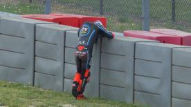 The Sky Racing Team VR46 rider has a very fast crash during Moto2™ FP1 in Austin