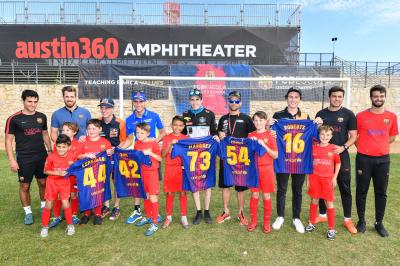 MotoGP™ riders swap racing for football with FCB