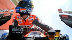 La cámara On Board del italiano nos permite subirnos a la Ducati durante una vuelta