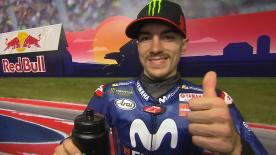 After Marquez's sanction, the Movistar Yamaha rider will start from first place on the grid