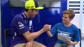 The Movistar Yamaha rider sits down for a chat with the Texas Tornado Colin Edwards' son