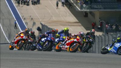 Free Video: Americas GP start in super slow motion