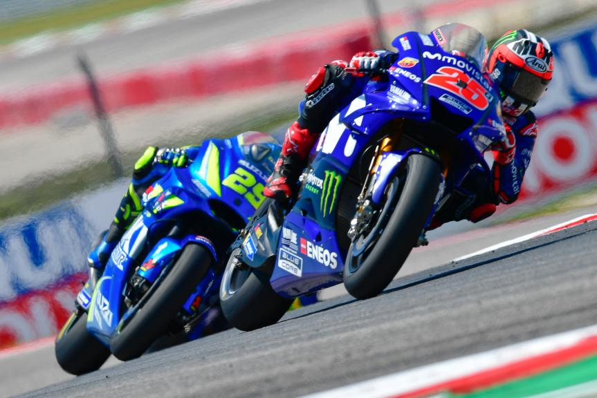Maverick Viñales, Movistar Yamaha MotoGP, Andrea Iannone, Team Suzuki Ecstar, Red Bull Grand Prix of The Americas