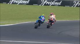 Pour éviter qu'Andrea Iannone ne prenne sa roue, Marc Márquez s'était arrêté au box en Australie.