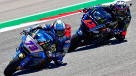 The two Moto2™ race leaders exchanged places several times throught the battle at COTA