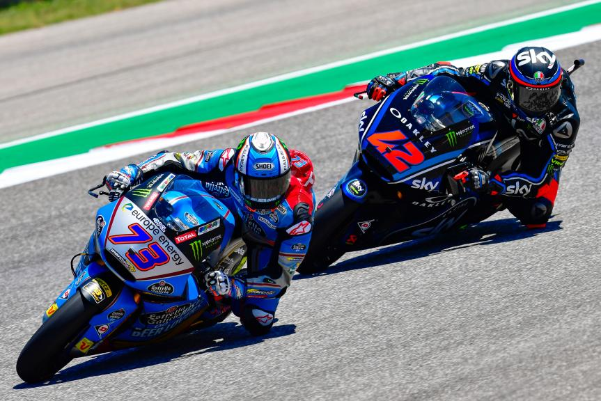 Francesco Bagnaia, Sky Racing Team VR46, Alex Marquez, Eg 0,0 Marc VDS, Red Bull Grand Prix of The Americas
