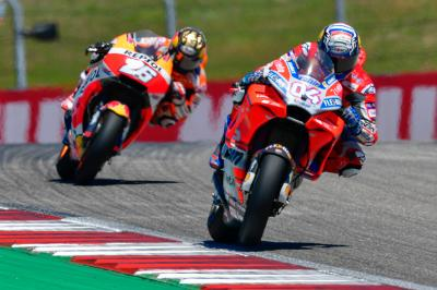 Leader of the pack: Dovi weighs in after the Americas GP