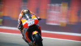 Just 2 weeks after breaking his wrist and 7 days after surgery, the Repsol Honda rider braved it all in Austin to take 7th place
