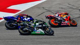 Catch all the details of Sunday's Americas GP action in stunning slow motion.