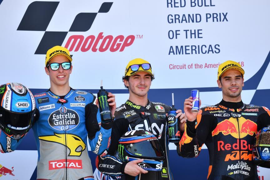 Francesco Bagnaia, Alex Marquez, Miguel Oliveira, Red Bull Grand Prix of The Americas