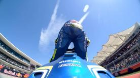 After a shaky start to the season, the Italian took his first podium with Suzuki at COTA. The Maniac is back!