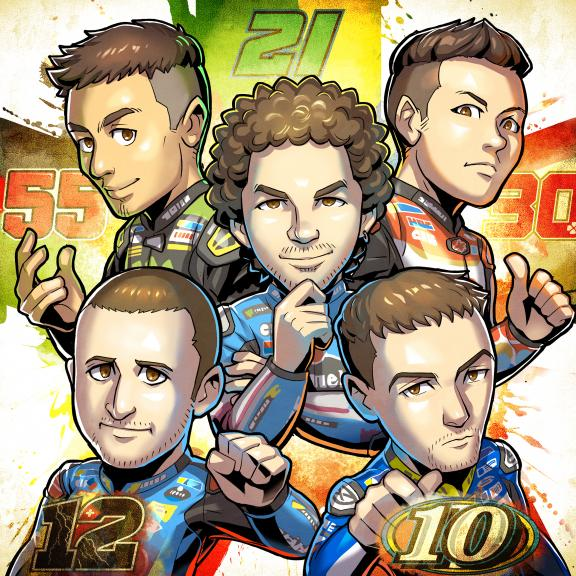 MangaGP, 5 Rookies