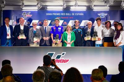 Jerez pays tribute to Rossi and Ezpeleta