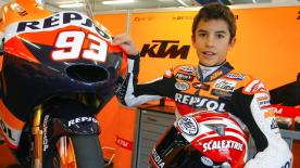 The number 93 rides in his tenth World Championship season: With his Mum and Dad, he looks back on those early on-track days