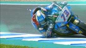 The Spanish rider took the best time at the Circuit of Jerez Angel Nieto, ahead of Baldassari and Bagnaia