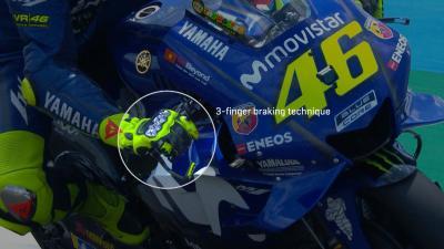 Wie bremsen Rossi und Marquez?