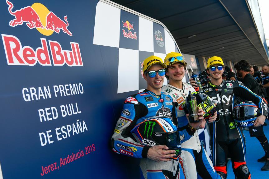 Lorenzo Baldassari, Alex Marquez, Francesco Bagnaia, Gran Premio Red Bull de España